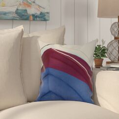 Harriet Boat Throw Pillow Color: Royal Blue, Size: 16