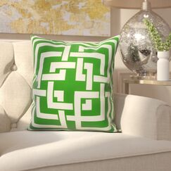 Clarisse Throw Pillow Color: Green, Size: 26