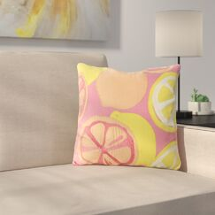 Citrus Decorative 100% Cotton Throw Pillow