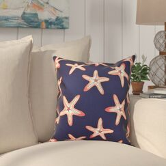 Cedarville Soft Starfish Geometric Print Outdoor Throw Pillow Size: 20