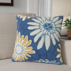 Calvary Floral Down Filled 100% Cotton Throw Pillow Size: 18