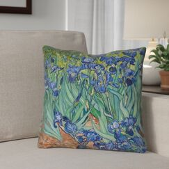 Morley Irises Outdoor Throw Pillow Size: 20
