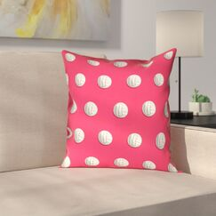 Volleyball Suede Pillow Cover Size: 14