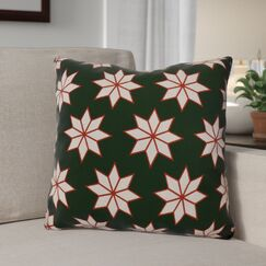 Christmas Decorative Holiday Indoor Geometric Print Throw Pillow Color: Dark Green, Size: 26
