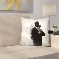 Dissolution of Man Throw Pillow