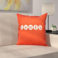 Sperber Laugh Throw Pillow Size: 26