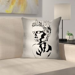 Graphic Augustus Art Square Cushion Pillow Cover Size: 16