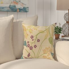 Connelly Botanical Throw Pillow Size: 26