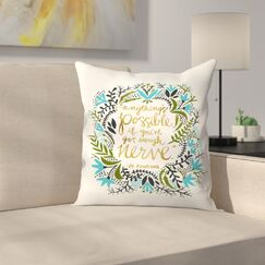 Anything is Possible Throw Pillow Size: 18