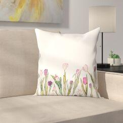Elena O'Neill Tulips Throw Pillow Size: 20