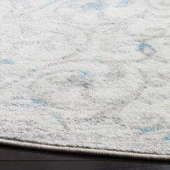 Kingstowne Ivory/Blue Area Rug Rug Size: Square 6'7
