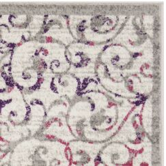 Kingstowne Ivory/Pink Area Rug Rug Size: Rectangle 9' x 12'
