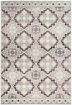 Doty Gray/Pink Area Rug Rug Size: Rectangle 4' x 6'