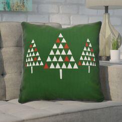 Christmas Trees Outdoor Throw Pillow Size: 20