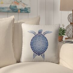 Chandeleur Square Indoor/Outdoor Throw Pillow Size: 18