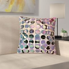 Pia Schneider Melange of Circles III Outdoor Throw Pillow Size: 18