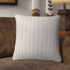 Couturier Striped Square Throw Pillow (Set of 16) Color: Grey, Size: 16
