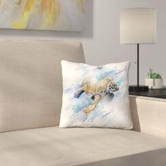 Turtle Throw Pillow Size: 14