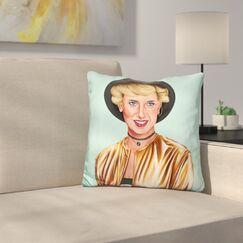 Lady D Throw Pillow