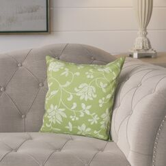 Cecilia Traditional Throw Pillow Color: Green, Size: 26