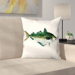 Seafood Fish Throw Pillow Size: 16