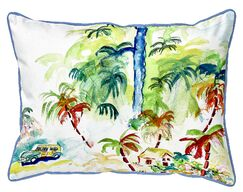Bluffton Colorful Palms Indoor/Outdoor Lumbar Pillow Size: Small