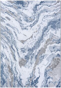 Driggers Abstract Marble Gray/Blue Area Rug Rug Size: Rectangle 2' x 3'11