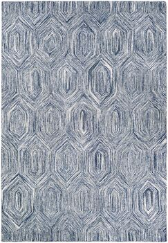 Crabill Hand-Woven Blue/Gray Area Rug Rug Size: Runner 2'3