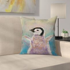 Michael Creese Baby Penguin Throw Pillow Size: 16