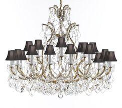 Poynter 25-Light Shaded Chandelier Shade Color: Black, Crystal: Empress Crystal, Finish: Silver