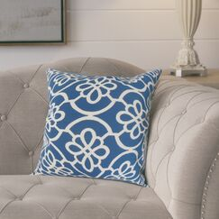 Throw Pillow Color: Blue, Size: 22