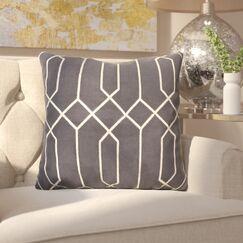 Kaivhon Geometric Linen Throw Pillow Size: 22