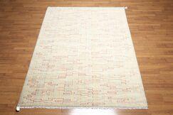 Losada Wool Beige/Aqua Area Rug