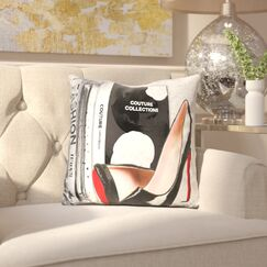 Tameka Fashion Icons Throw Pillow