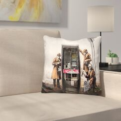 Spy Booth Throw Pillow
