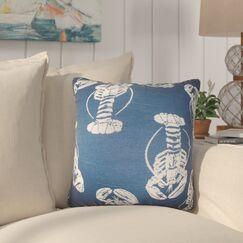 Cervone Animal Print Cotton Throw Pillow Color: Navy