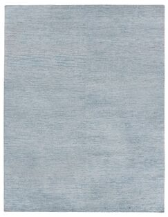 Perry Hand-Knotted Gray/Black Area Rug Rug Size: Rectangle 14' x 18'