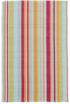 Clara Stripe Hand-Woven Cotton Red/Yellow Area Rug Rug Size: Runner 2'6