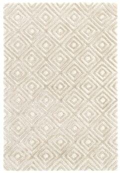 Cut Diamond Hand-Tufted Gray Area Rug Rug Size: Runner 2'6