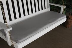 Indoor/Outdoor Bench Cushion Fabric: Gray, Size: 2