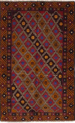 One-of-a-Kind Dix Hand-Knotted Wool Light Brown/Red Area Rug