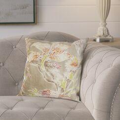 Ilana Throw Pillow (Set of 2) Color: Red Jade, Size: 18