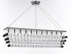 Penright 11-Light Kitchen Island Pendant Crystal Color: Clear/Black
