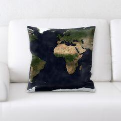 Guerin Flag World Map Throw Pillow