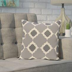 Pollard Geometric Print Throw Pillow Color: Gray, Size: 28