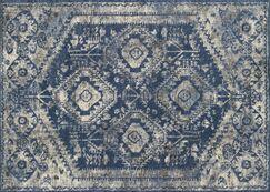Aparicio Blue/Pebble Area Rug Rug Size: Rectangle 7'7