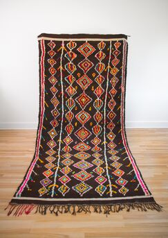 One-of-a-kind Kulana Azilal Hand-Woven Wool Brown Area Rug