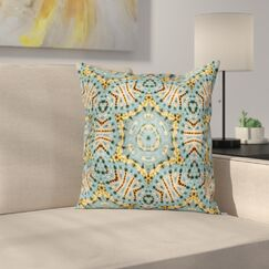 Tribal Indian Bohemian Square Pillow Cover Size: 20