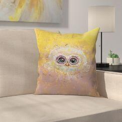 Michael Creese Owl Throw Pillow Size: 18