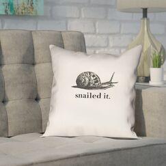 Pecora Snailed It Outdoor Throw Pillow Size: 18